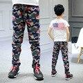 Детская брюки для мальчиков хлопок свободного покроя детская одежда мода камуфляж спортивные брюки мальчиков весна детской одежды для мальчиков 6 - 14 г
