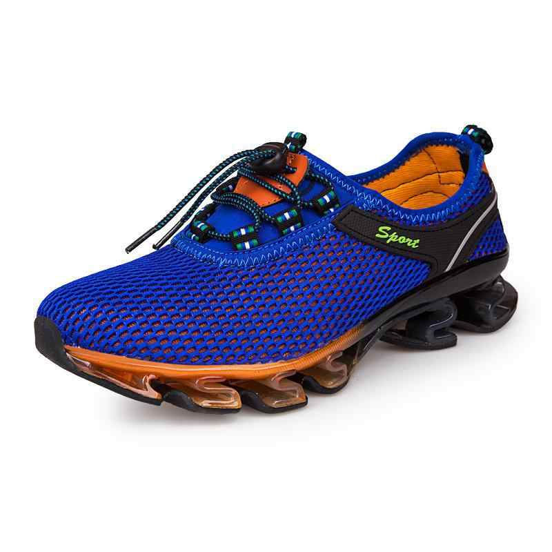 2018 Yeni Varış Yaz Nefes Yumuşak Işık Erkek Örgü Ayakkabı Erkekler Için Yetişkin Sneakers Yürüyüş Rahat ComfortableWomen erkek Footwea