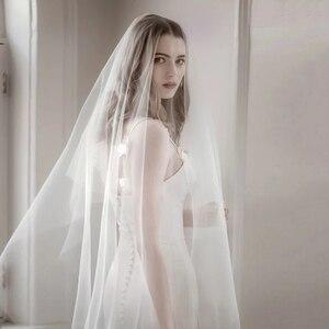 Image 4 - 6 10 15 20 30 מטרים חתונה תמונה מסיבת כלה ארוך במיוחד 6 10 15 20 30 M לבן רשת טול רעלה הכלה שנהב רעלות ללא מסרק