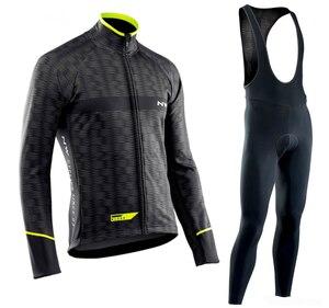Image 5 - NW 2019 לנשימה רכיבה על אופניים בגדי סט Northwave ארוך שרוול קיץ ג רזי גברים חליפת חיצוני sportful אופני MTB בגדי paded