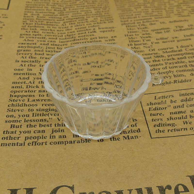 20pcs/lot kawaii shaved ice bucket imitation PVC Plastic glass 41mm Artificial Parfait Cups Miniature Food Deco Part