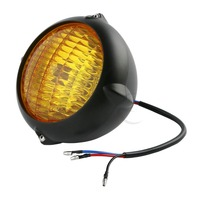 Bates Stijl Head Light Lamp Voor Harley Bobbers Choppers Dyna Fld Heritag Softail op
