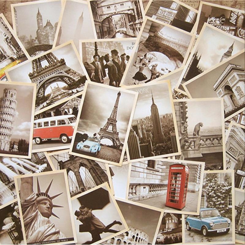 День, наборы открыток путешествия