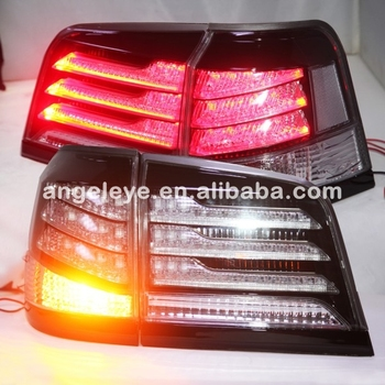 2012-2014 year For Lexus LX570 LED Tail light  Rearlights black housing Clear Cover
