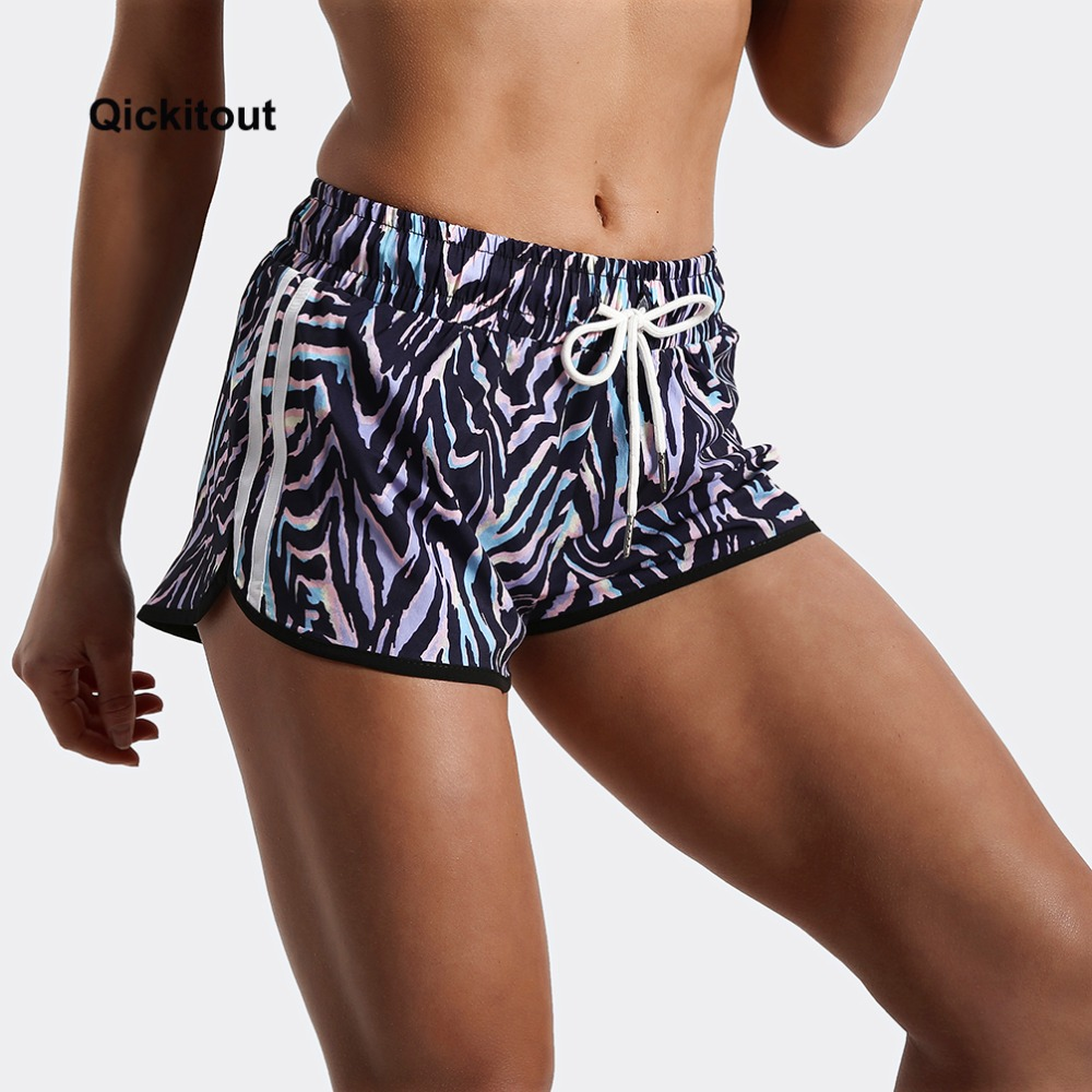 Qickitout Women Shorts Ladies Short Pants Fitness Clothes Sexy Zebra colored leopard print Shorts Summer Women Pants