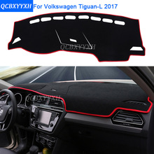 Car Styling Dashboard Protective Mat Shade Cushion Photophobism Pad Interior Carpet For Volkswagen Tiguan L 2017