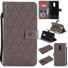 ФОТО 3d embossed rattan flowers flip case for xiaomi redmi 5 pu leather silicon luxury wallet holster cover for xiaomi redmi 5 case