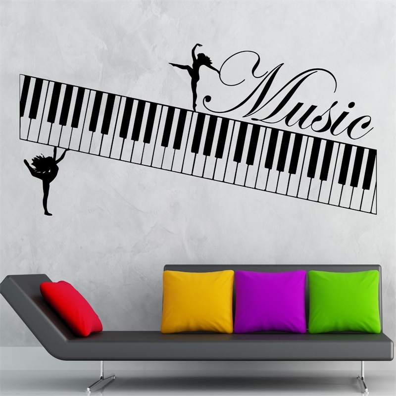 Music Wall Stickers Muse Piano Musical Instrument Vinyl Decal