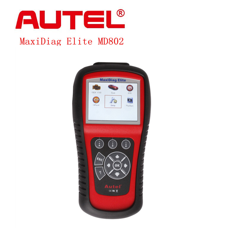 Nieuwe AUTEL MaxiDiag Elite MD802 Alle systeem + DS model MD 802 PRO (MD701 + MD702 + MD703 + MD704) Originele Auto Code Reader Gratis Update