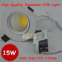 Wholesale 50pcs Lot High Quality Dimmable Led Lamps Led Downlight Cob 15W Dimming LED Spot Light