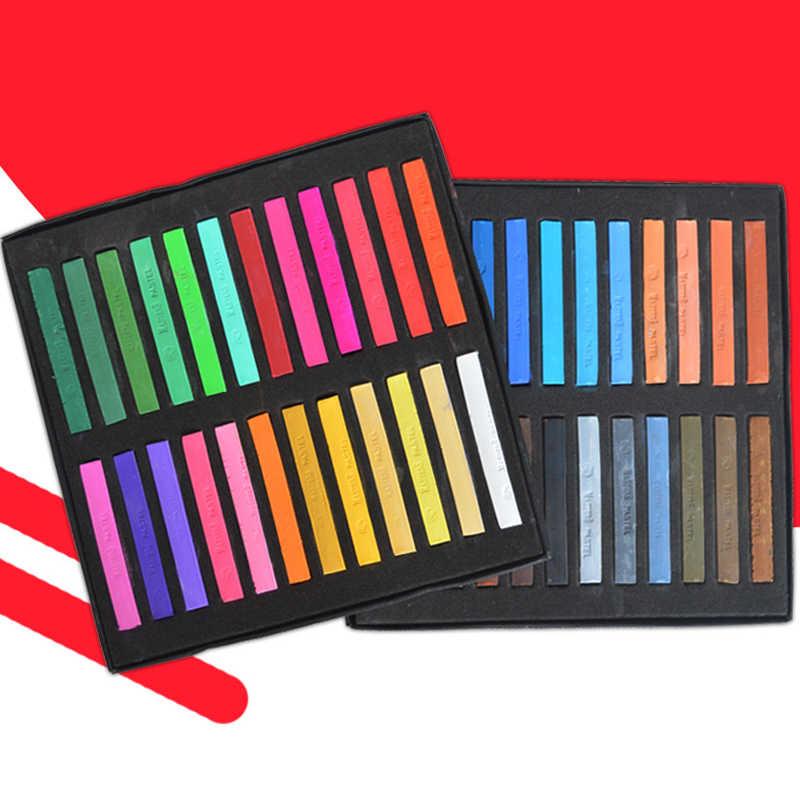 48 colores tiza tinte para el cabello boceto Color lápiz papel pintura no tóxico agua Soluble crayones Oficina escuela pintura suministros