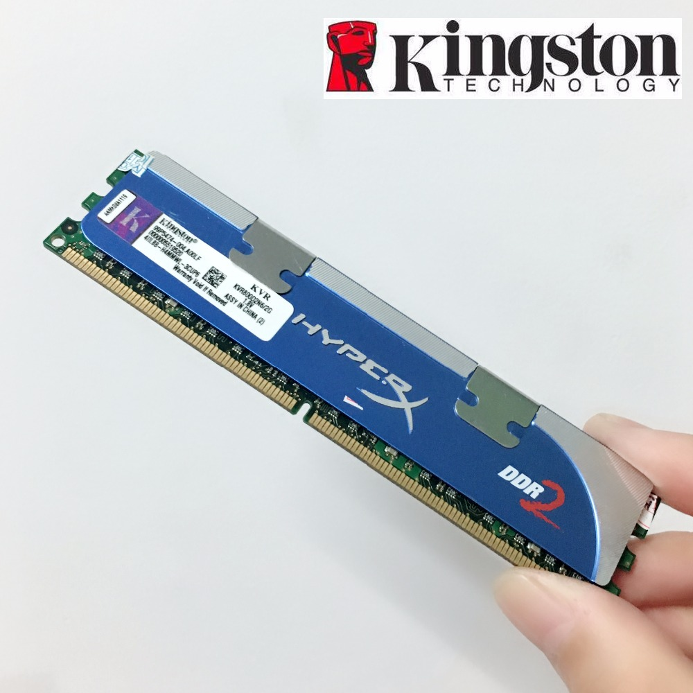 Kingston HyperX 2GB DDR2 800 1066 MHZ PC2 6400 8500 S 800MHZ 1066MHZ PC Memory RAM Memoria Module Computer Desktop 2G RAM
