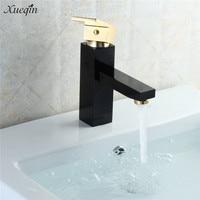 Xueqin Bronze Rose Gold Luxury Deck Mounted Basin Single Handle Bathroom Basin Faucet Mixer Water Tap