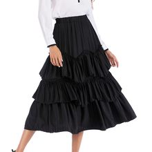 Women's Sexy Skirt New Retro Cake Long Flared Pleated High Waisted A Line Skirt Autumn Winter Fashion Midi Skirt Media Falda #A(China)