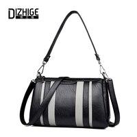 DIZHIGE Brand Patchwork High Quality Women Shoulder Bag Designer PU Leather Crossbody Bags Small Women Handbags