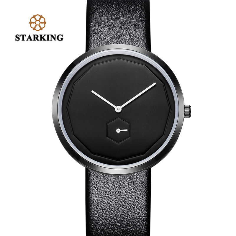 STARKING Top Brand Luxury Men's Wrist Watch Waterproof 3 ATM Sport Quartz Clock Hexagon Dial Father's Day Gift bayan kol saati splendid brand new boys girls students time clock electronic digital lcd wrist sport watch