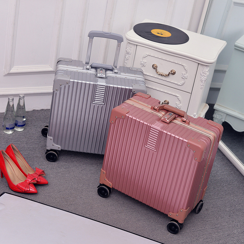 New Fashion Rolling Luggage Bags Aluminum Frame PC Shell TSA Lock Travel Trolley Case Suitcase With Wheel