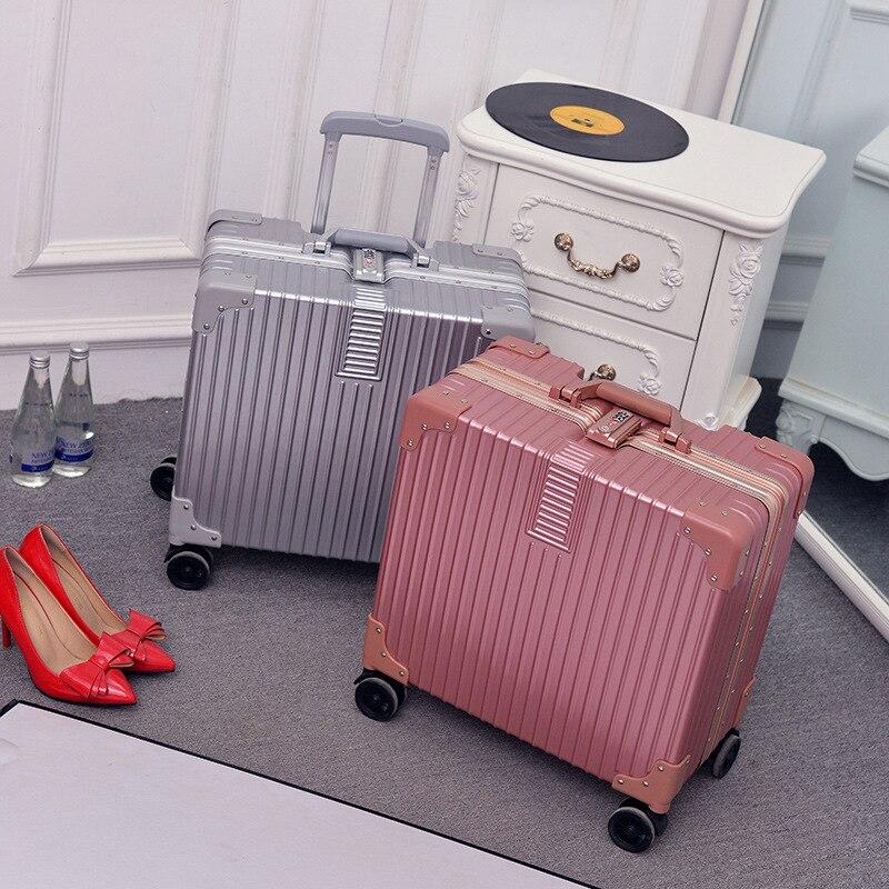 Nouveaux sacs à bagages roulants en aluminium cadre PC Shell TSA serrure valise chariot de voyage valise avec roue