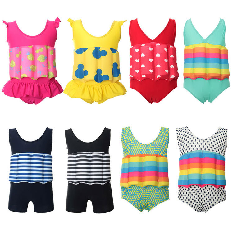 Professional kids swimwear buoyant swimming suits boys and girls quick-drying  buoyancy swimwear swimsuit HW324