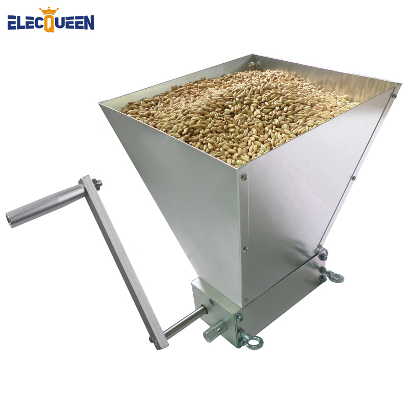 2019 Newest Stainless 2 roller Barley Malt Mill Grain Grinder Crusher For Homebrew Wholesale Dropshipping