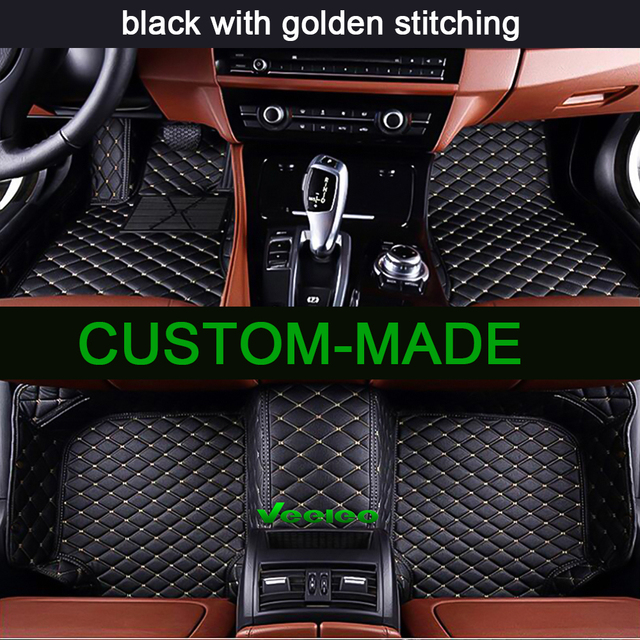 Veeleo 6 Colors Car Floor Mats For Volkswagen Tiguan 2009 2016 Full Set All Weather Waterproof Anti Slip Carpets