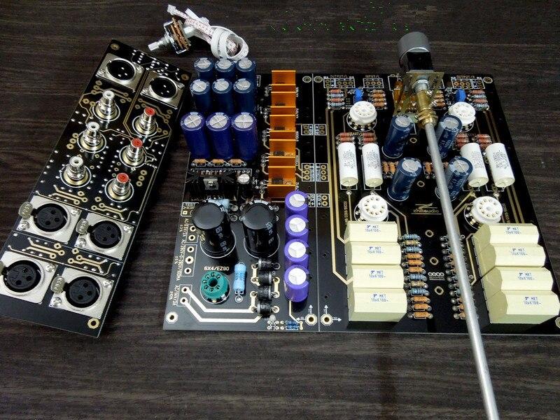 Dinâmica & Passion Fi XLR Equilibrada Single-ended Tubo 12AU7 Válvula Preamp Preamplifier Board DIY Kit Americano ARC Circuito