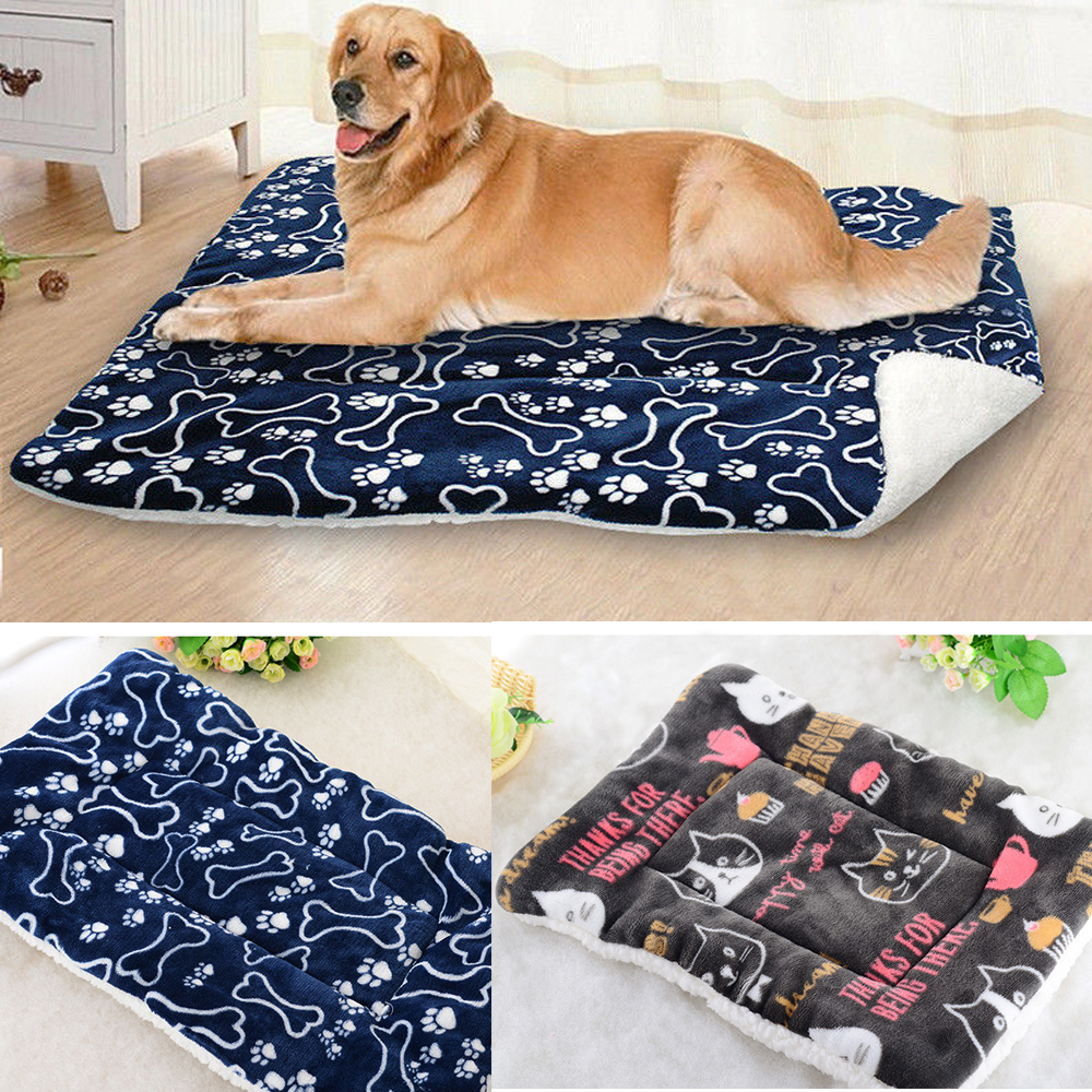 Pet Bed Cushion Mat Pad Dog Cat Kennel Crate Warm Soft Blanket Various Colours