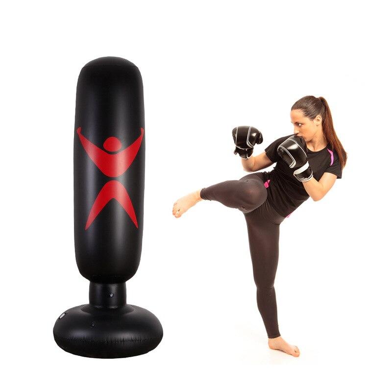 Punching Bag Inflatable Boxing Column Tumbler Sandbags MMA Kick Martial Training