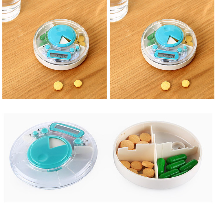 Portable Alarm Seal Pill Storage Case Timed Reminder Vitamin Medical Medicine Organizer Box Kit Container HG99