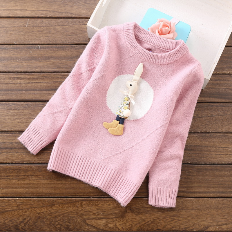 2018 new fashion girls sweaters 2-6years children clothing C8069 цена