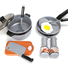 One Set Children Kitchen Cooking Utensils Accessories Play Toy Cook Pots Pans Cookware Kids Pretend Classic Toys Gift