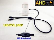 Pir Style HD 1200Tvl 960P Pinhole Mini AHD Camera 3.7mm Pinhole Lens 1.3Megapixel PIR Camera CCTV Pinhole AHD Mini Camera Ahd