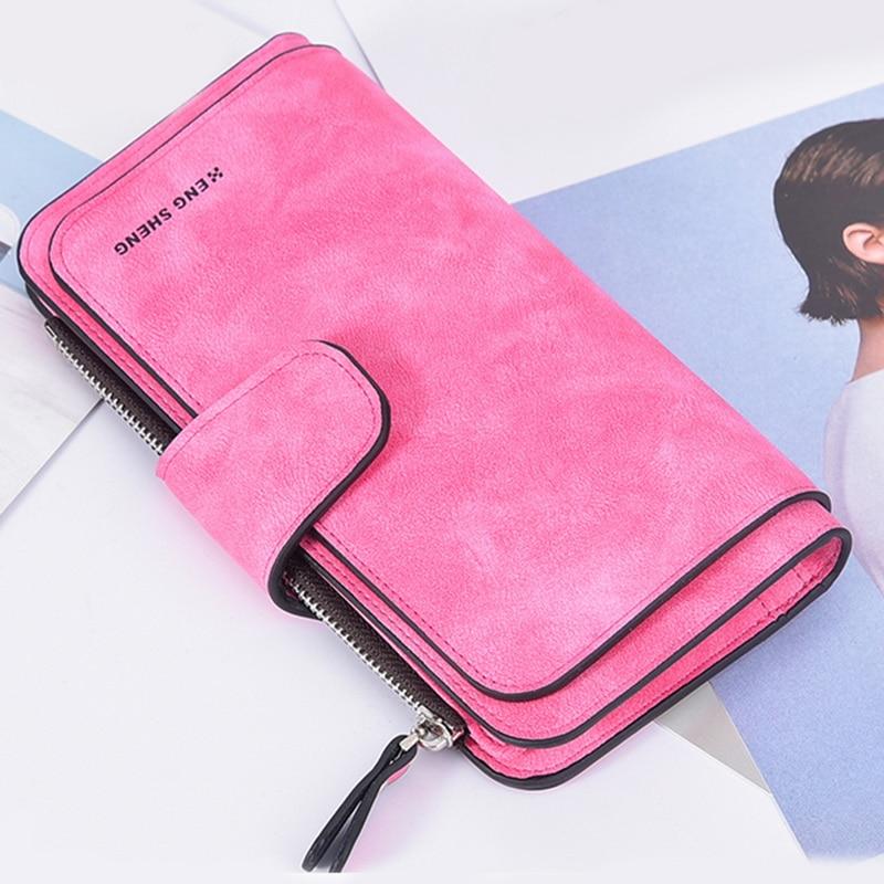 Ladies Multi- Wallet Multi-Card Wallet Women Fashion Purse Three-Fold Long-Style  Card Bag Holder Wallet
