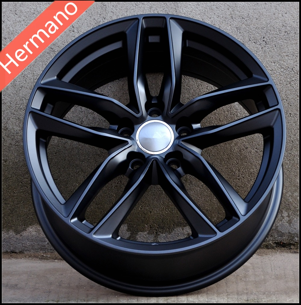 Black Machine Face 19x85 Inch Pcd 5x112 Offset 35mm Bore