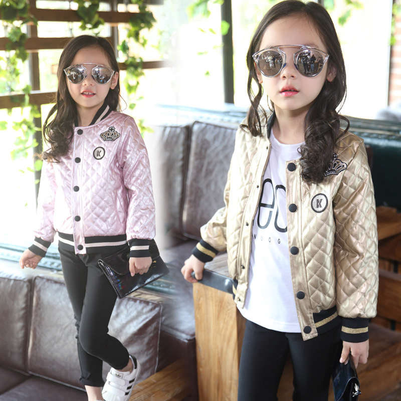 New Fashiom Girls Jackets Autumn Winter Children Outerwear Casual Baseball Clothes Kids Coats Full Sleeve Costume