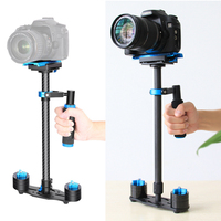 Camera Photo Studio kits Carbon Fiber Handheld Stabilizer with Quick Release Plate 1/4 screw for DSLR and Video Cameras