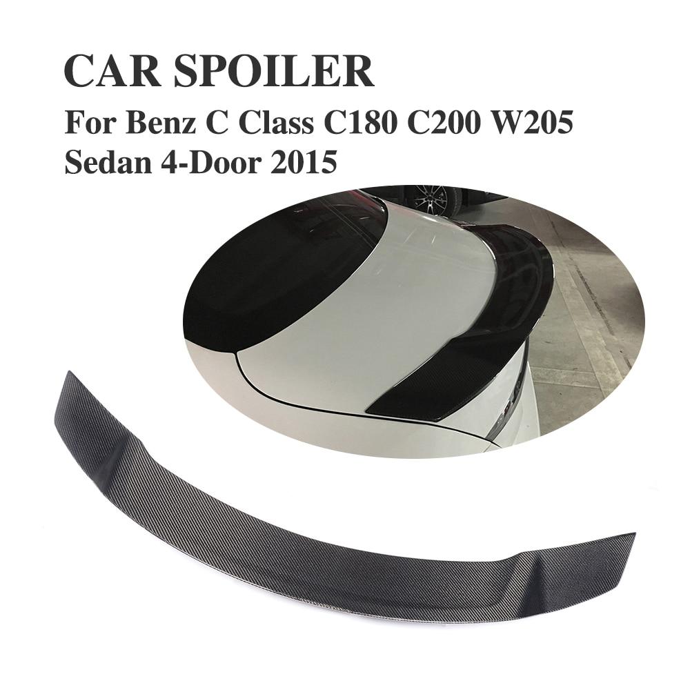 Πίσω αεροτομή πραγματικού άνθρακα για Mercedes Benz W205 C-Class Sedan C43 C63 C180 C200 C250 C300 C350 C400 C450 2015-2018
