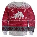 Men's Sweatshirt 3D Printed Christmas Hoodies Snowflake Deer Pullovers Tops Men Women Casual Funny Costume Clothing Plus Size
