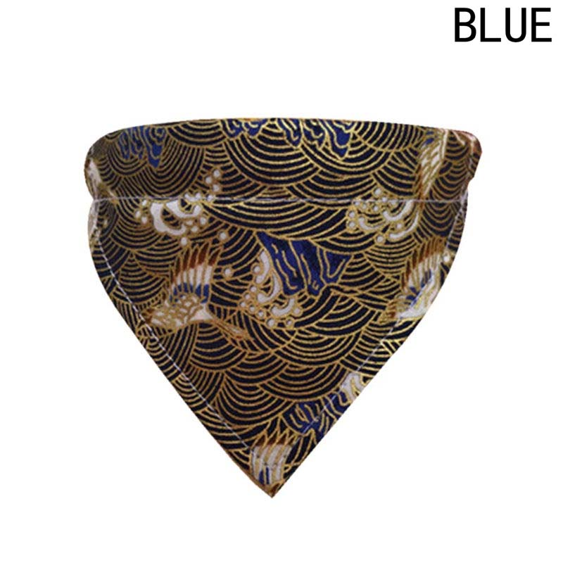 Adjustable Pet Dog Japanese Style Bird Sea Wave Patterns Bandana with Collar Puppy Cat Neck Scarf Neckerchief High Quality ...