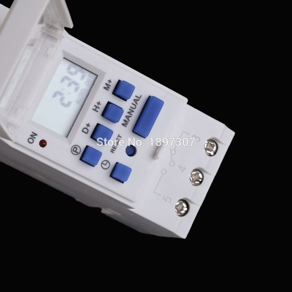 AHC15A 16A Weekly Programmable LCD Digital Time switch Din rail Timer switch in Timers from Tools