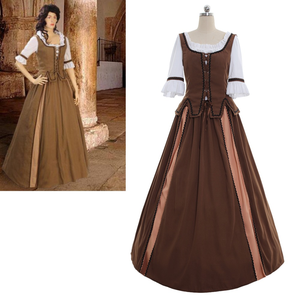 Cosplaydiy  Custom Made Medieval Women Dress Retro Renaissance Victorian Cosplay Costume L320
