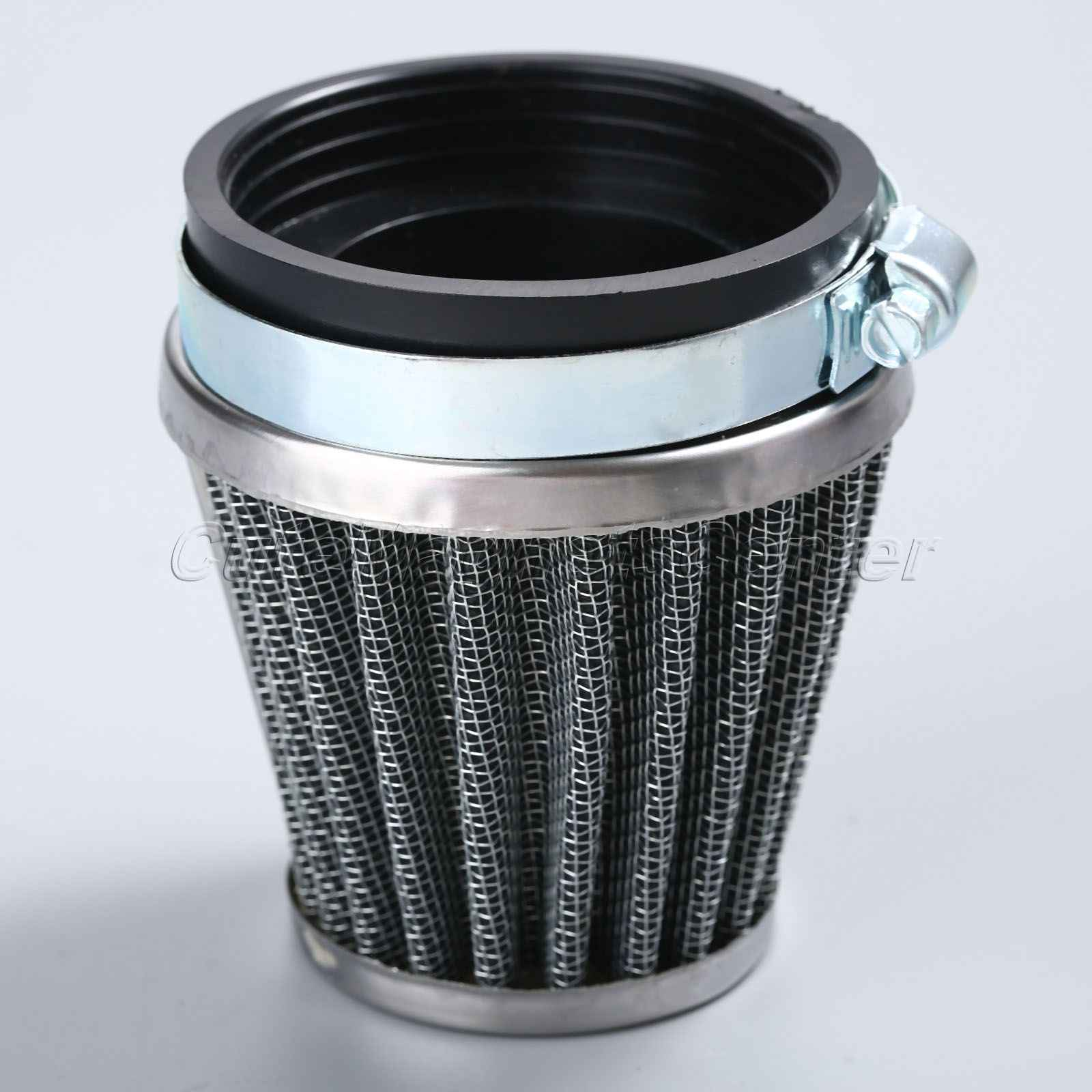 60mm 2 Layer Steel Net Filter Gauze Motorcycle Clamp-on Air Filter Cleaner