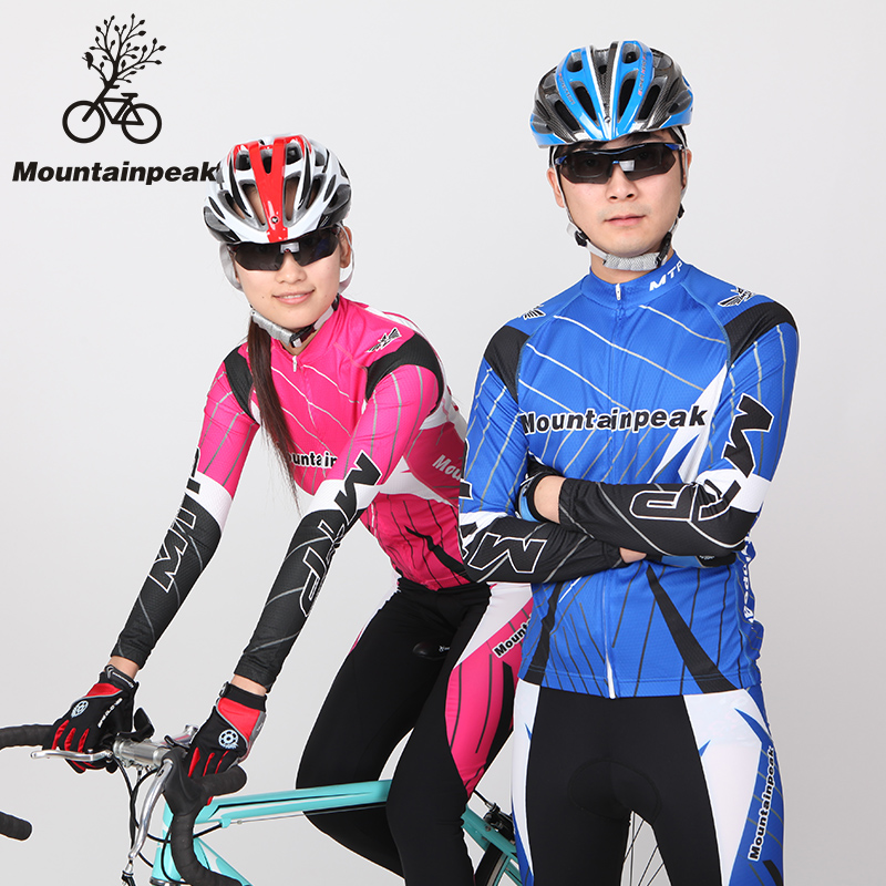 ФОТО Men Long Sleeved Clothes Riding Suits Bicycle Trousers Equipment Spring Autumn UV Protect reathable Riding Jersey Clothing Sets
