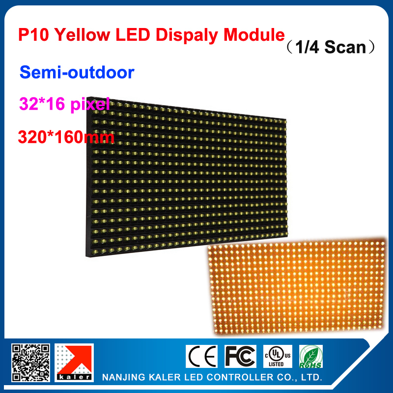 TEEHO Factory Direct Sales! P10 Led Module Yellow Color Led Display Module P10 32x16cm Outdoor Led Panel
