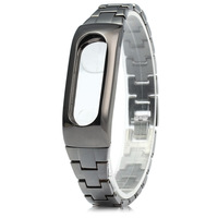 For Xiaomi Mi Band 2 Mijobs Metal Strap Wristband Wearable Screwless Stainless Replace Wrist Strap Band
