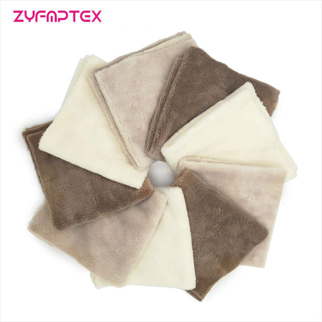 ZYFMPTEX 2017 Newest Top A 5mm Super Soft Fabric 1Pcs 25x25cm Polyester Plush Fabric Telas Tissus Patchwork Sewing Minky For Toy