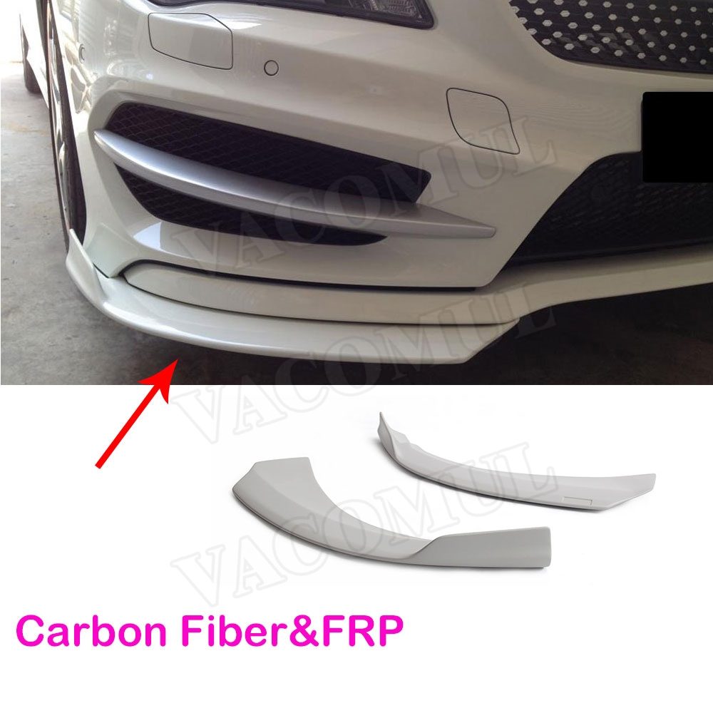 Carbon Fiber & FRP Front Bumper Splitters Spoiler Side Canards Fog Lamps Trims for Mercedes Benz CLA 2013-2016 for mercedes cla carbon front bumper splitter