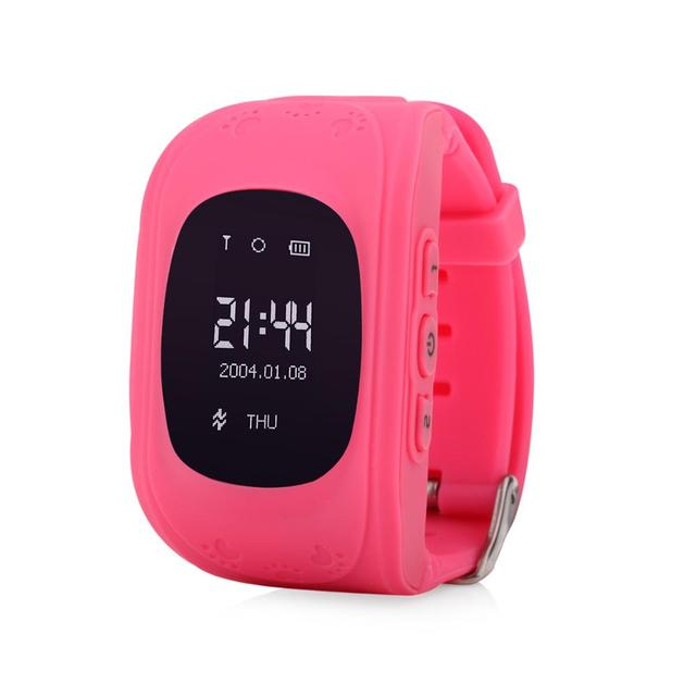 Wonlex Anti-Lost Q50 OLED Child GPS Tracker SOS Smart Monitoring Positioning Phone Kids GPS Watch Compatible with IOS & Android