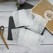 40 sheets/lot  DIY white soft flower grid pattern wrapping creative paper craft handmade scrapbooking decoration