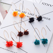 Boho Flower Tassel Dangle Earrings